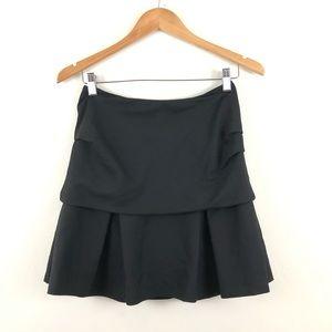 3.1 Phillip Lim Black Wool Mini Tier Skirt 0